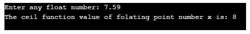 ceil function in c++ 1