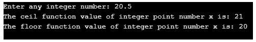 ceil function in c++ 3