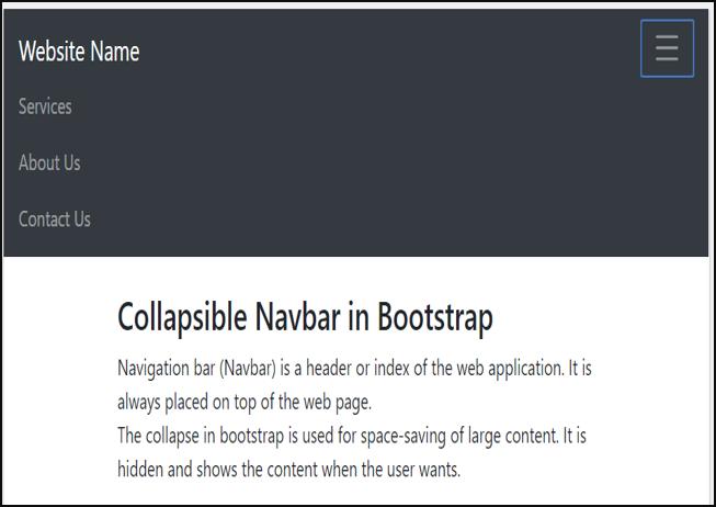 Showing Navbar content