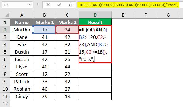 Complex Criteria in Combination 2-5