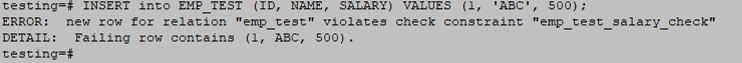 PostgreSQL Constraints-5.3
