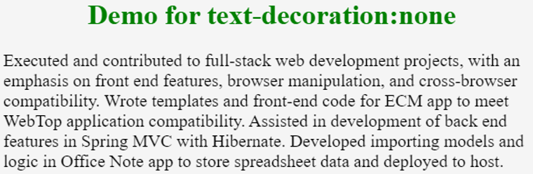html text decoration -example 1