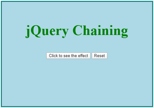 jQuery Chaining Example 2