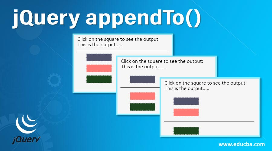 jQuery-appendTo()