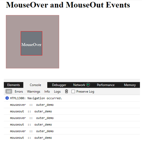 jQuery mouseout()12