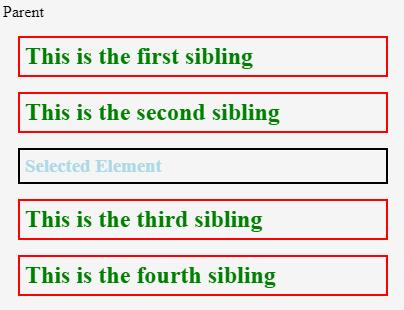jQuery siblings Example 3