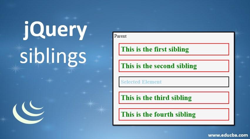 jquer siblings