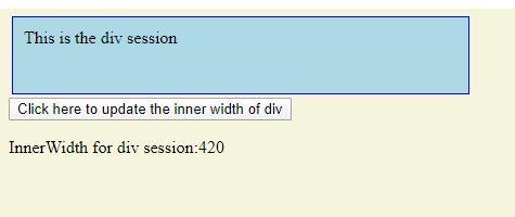 jquery inner width