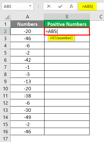 Negative numbers into Positive 4-2