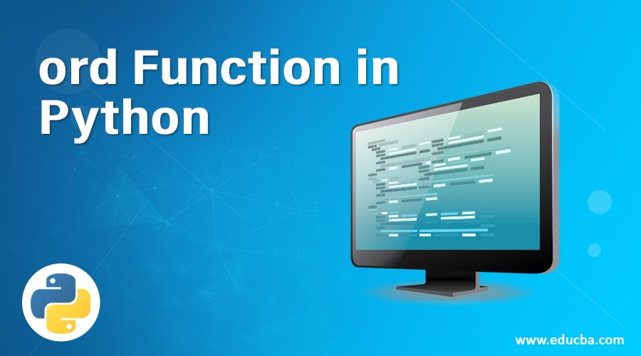ord Function in Python