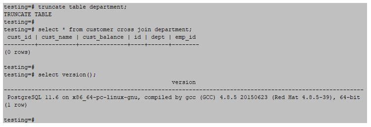 postgreSQL 4