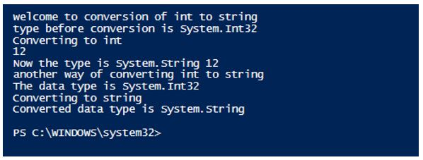 powershell convert to string 7