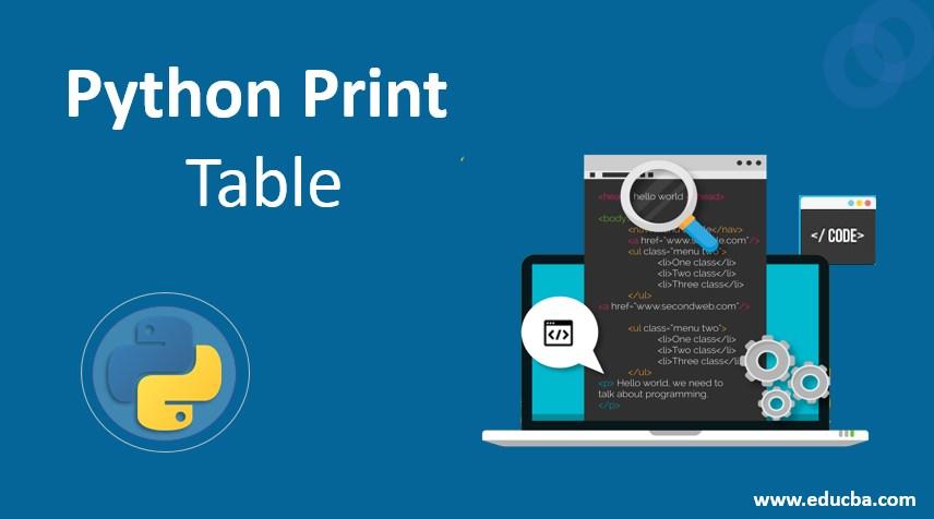 python print table