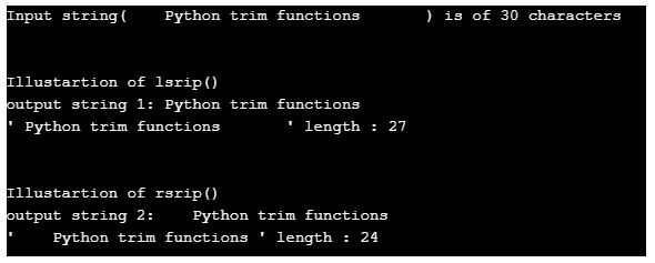 python trim string 2