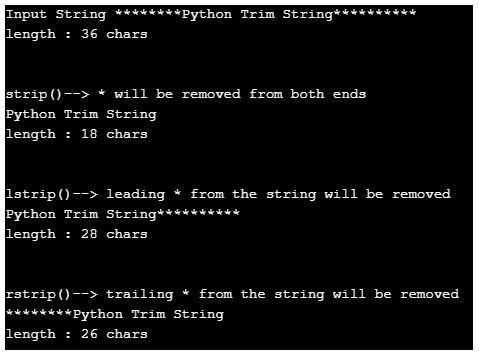 python trim string 3