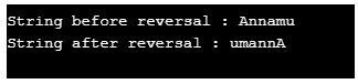 reverse string in java 2