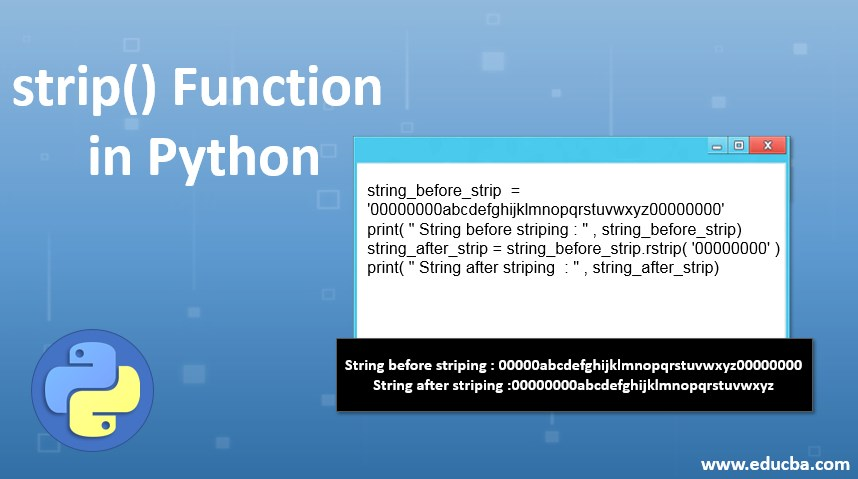 strip function in python