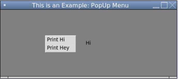 Pop-up menu 1