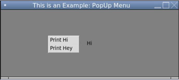Pop-up menu 2