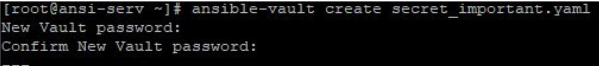 Ansible Vault output 9