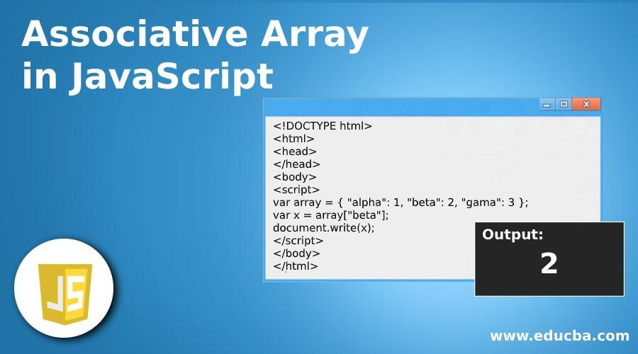 Associative Array in JavaScript