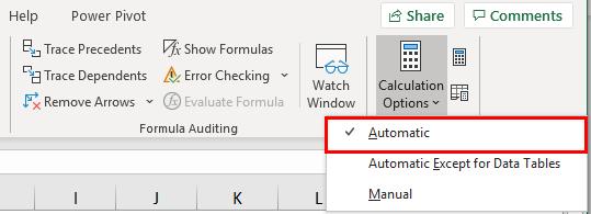 Automatic- Calculation