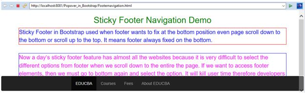Bootstrap Sticky Footer 4
