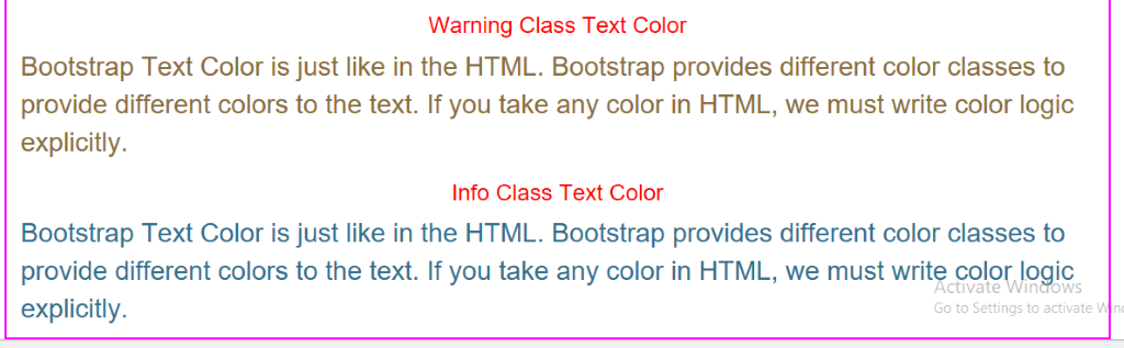 Bootstrap Text Color Example 3