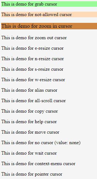CSS Cursor - 1