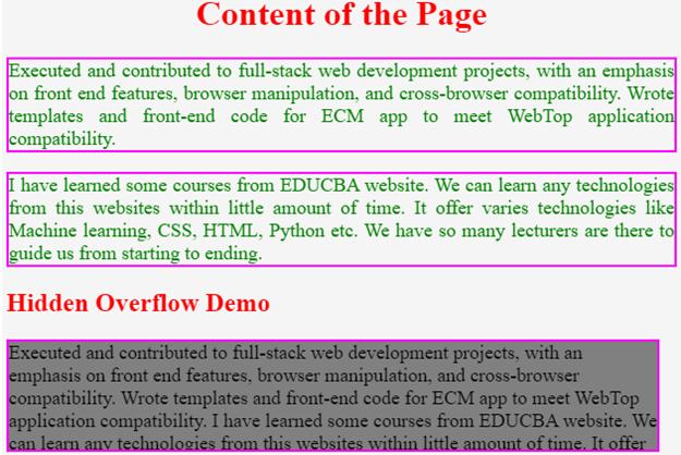 CSS Overflow - 1