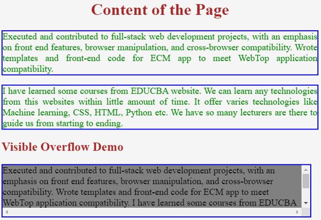 CSS Overflow