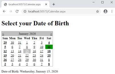 select any random date