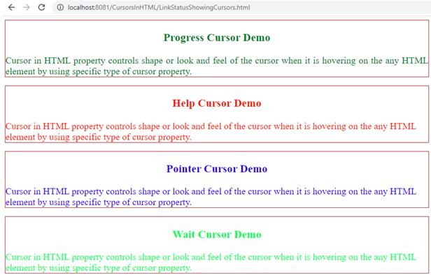 Cursor in html - 35