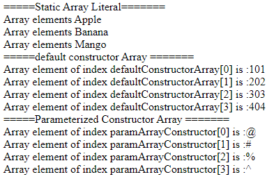 Assigning Array