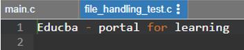File Handling in C - 2