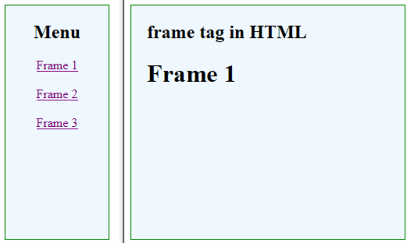 Frame Tag in HTML-1.3