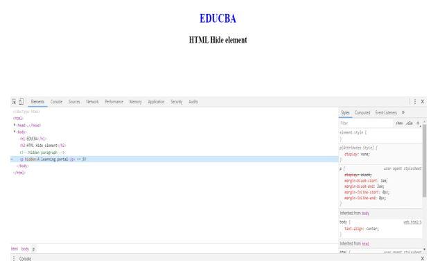 HTML Hide Elements 1