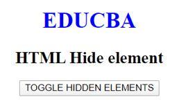 HTML Hide Elements 2