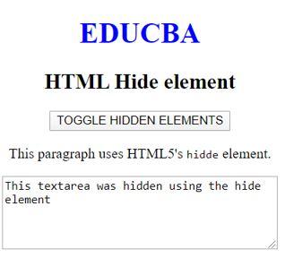 HTML Hide Elements 3