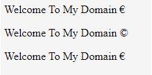 HTML Sonderzeichen1