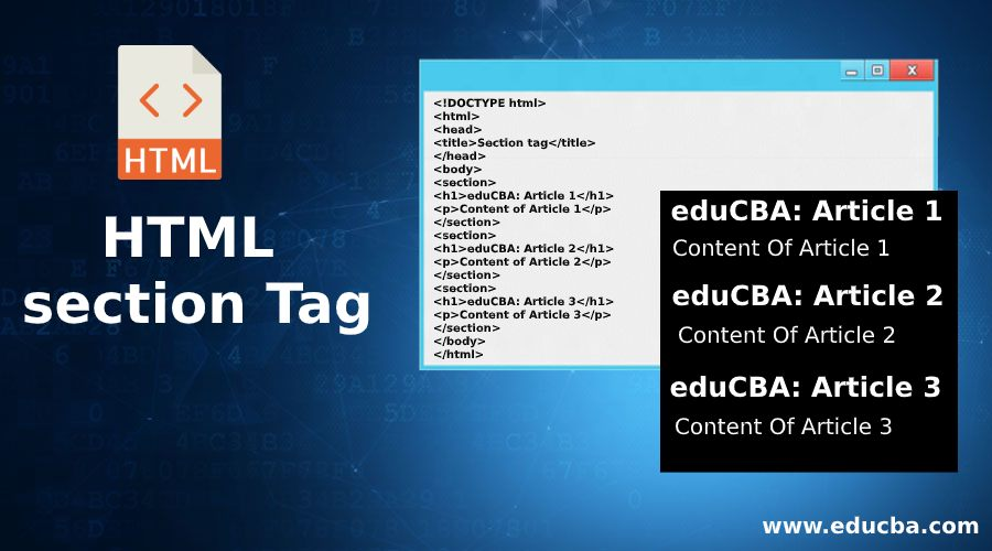 HTML section Tag