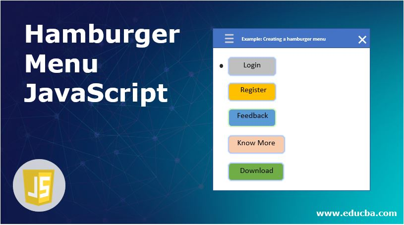 Hamburger Menu JavaScript