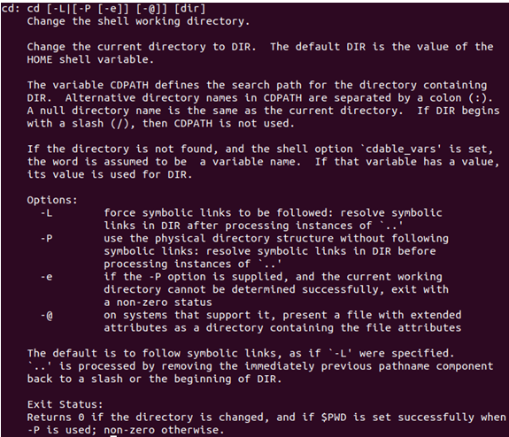 Help Command in Linux-1.2