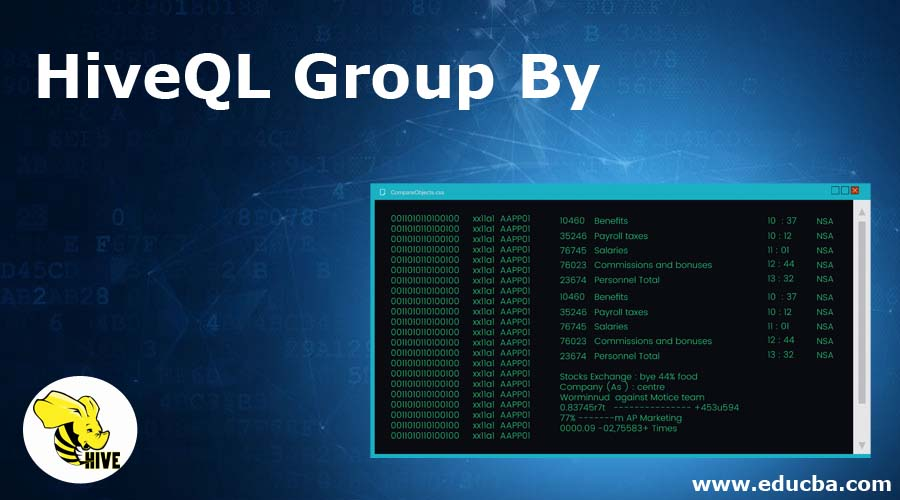 HiveQL Group By