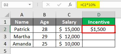 Incentive - excel 3-1