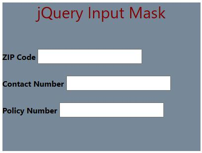 JQuery InputMask 1-3