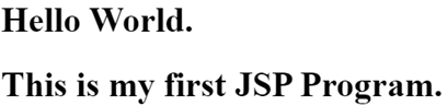 JSP in Java Example 1