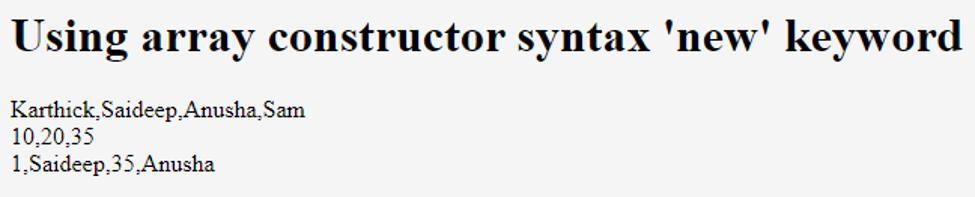 JavaScript Declare Array-1.2