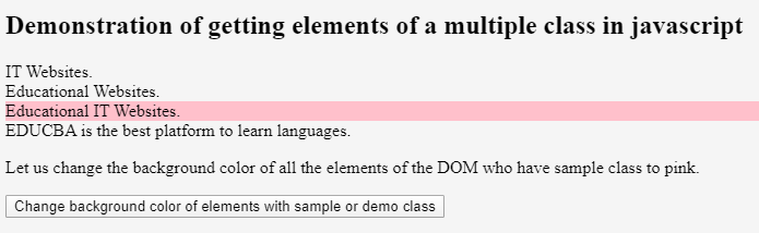 JavaScript Get Element by Class 4