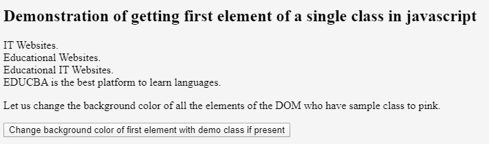 JavaScript Get Element by Class 5